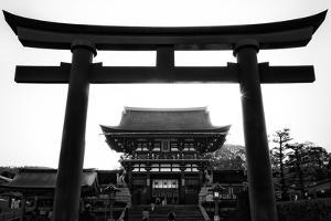 Black Japan Collection - Black Torii Temple by Philippe Hugonnard