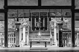 Black Japan Collection - Buddhist Temple by Philippe Hugonnard