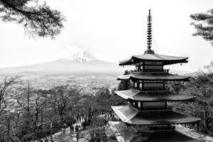 Black Japan Collection - Chureito Pagoda by Philippe Hugonnard