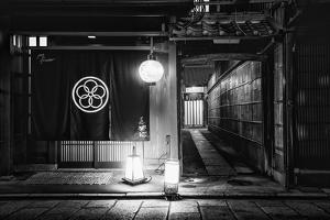 Black Japan Collection - Japanese Restaurant Facade I by Philippe Hugonnard