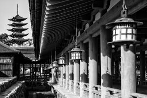 Black Japan Collection - Miyajima Temple by Philippe Hugonnard