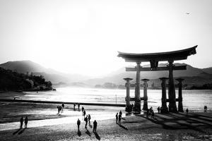 Black Japan Collection - Miyajima The Great Torii by Philippe Hugonnard