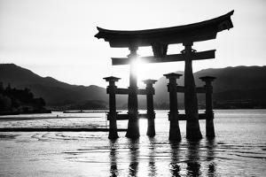 Black Japan Collection - Miyajima Torii by Philippe Hugonnard