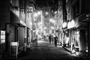 Black Japan Collection - Night Street Scene I by Philippe Hugonnard