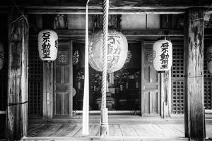 Black Japan Collection - Old Traditional Temple by Philippe Hugonnard