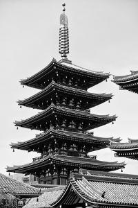 Black Japan Collection - Senso-Ji Temple by Philippe Hugonnard