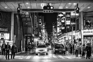 Black Japan Collection - Street Scene Hiroshima by Philippe Hugonnard