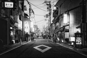 Black Japan Collection - Street Scene III by Philippe Hugonnard