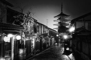 Black Japan Collection - Yasaka Pagoda Kyoto by Philippe Hugonnard