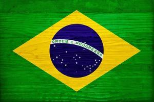 Brazil Flag Design with Wood Patterning - Flags of the World Series by Philippe Hugonnard
