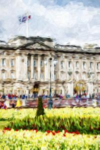 Buckingham Palace II - In the Style of Oil Painting by Philippe Hugonnard