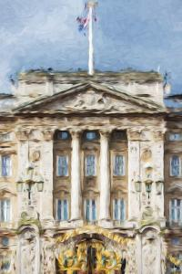 Buckingham Palace - In the Style of Oil Painting by Philippe Hugonnard