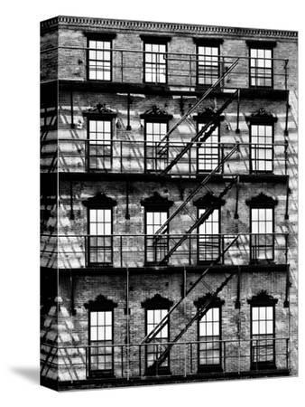 Building Facade in Red Brick, Stairway on Philadelphia Building, Pennsylvania, US