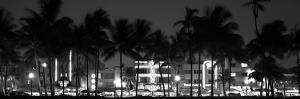 Buildings Lit Up at Dusk of Ocean Drive - Miami Beach - Florida by Philippe Hugonnard