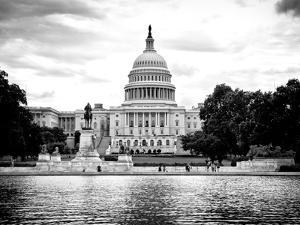Capitol Reflecting Pool and the Capitol Building, US Congress, Washington D.C, District of Columbia by Philippe Hugonnard