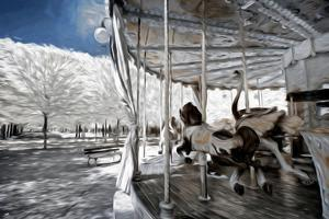Carousel in Paris I - In the Style of Oil Painting by Philippe Hugonnard