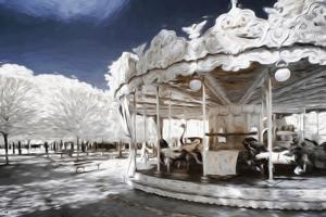 Carousel in Paris - In the Style of Oil Painting by Philippe Hugonnard