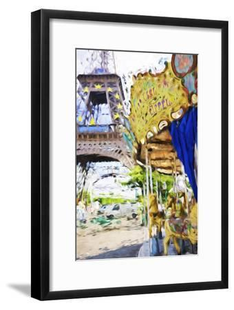 Carrousel Eiffel - In the Style of Oil Painting