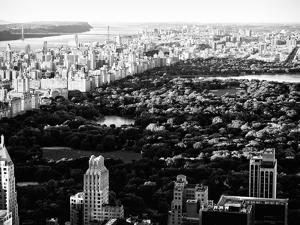 Central Park in the Summer and Sunset, Landscape, Manhattan, New York, Black and White Photography by Philippe Hugonnard