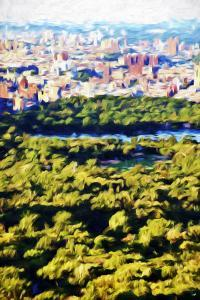 Central Park Sunset II - In the Style of Oil Painting by Philippe Hugonnard