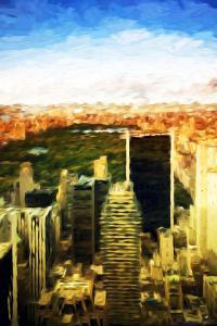 Central Park Sunset - In the Style of Oil Painting by Philippe Hugonnard