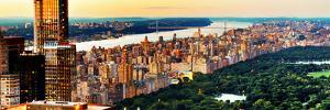 Central Park with Skyscrapers and Upper West Side Manhattan View at Sunset, New York by Philippe Hugonnard