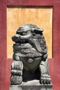 China 10MKm2 Collection - Asian Sculpture of a Stone Lion by Philippe Hugonnard