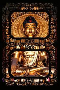 China 10MKm2 Collection - Asian Window - Gold Buddha by Philippe Hugonnard