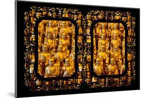 China 10MKm2 Collection - Asian Window - Gold Buddhist Statues in Longhua Temple by Philippe Hugonnard