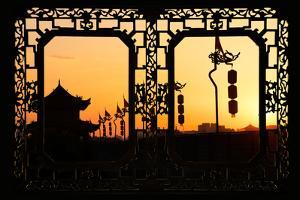 China 10MKm2 Collection - Asian Window - Shadows of the City Walls at sunset - Xi'an by Philippe Hugonnard