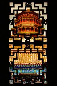 China 10MKm2 Collection - Asian Window - Summer Palace Temple at Sunset by Philippe Hugonnard