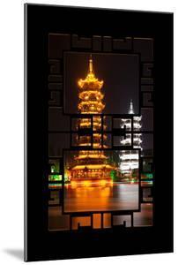 China 10MKm2 Collection - Asian Window - Sun & Moon Twin Pagodas by Philippe Hugonnard