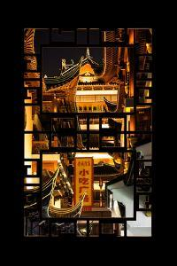 China 10MKm2 Collection - Asian Window - Traditional Architecture in Yuyuan Garden - Shanghai by Philippe Hugonnard