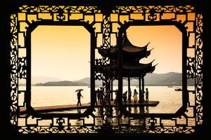 China 10MKm2 Collection - Asian Window - Water Temple at sunset by Philippe Hugonnard
