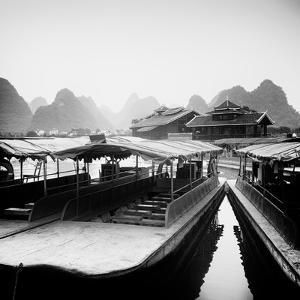 China 10MKm2 Collection - Chinese Boats with Karst Mountains by Philippe Hugonnard
