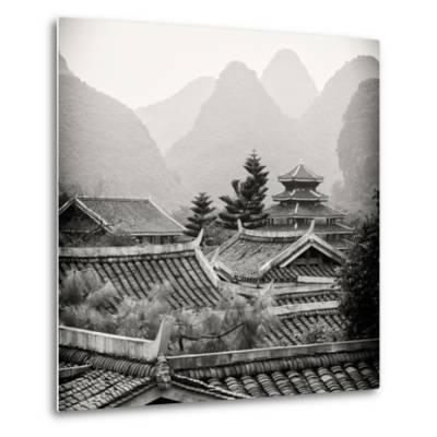 China 10MKm2 Collection - Chinese Buddhist Temple with Karst Mountains