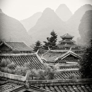 China 10MKm2 Collection - Chinese Buddhist Temple with Karst Mountains by Philippe Hugonnard