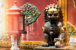 China 10MKm2 Collection - Instants Of Series - Bronze Chinese Lion by Philippe Hugonnard