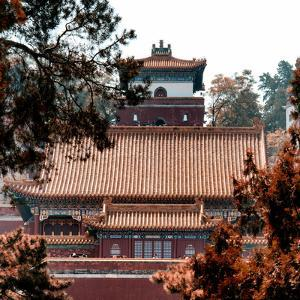 China 10MKm2 Collection - Summer Palace Architecture in Autumne by Philippe Hugonnard