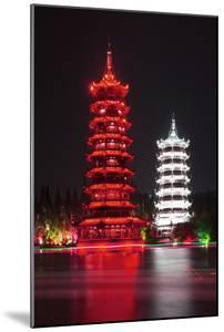China 10MKm2 Collection - Sun & Moon Twin Pagodas by Philippe Hugonnard