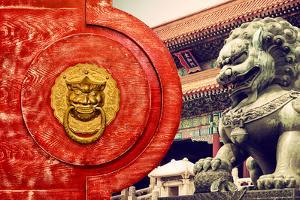 China 10MKm2 Collection - The Door God - Forbidden City by Philippe Hugonnard