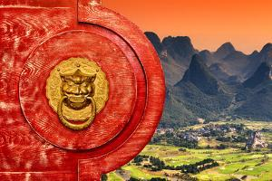 China 10MKm2 Collection - The Door God - Guilin by Philippe Hugonnard