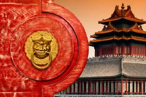 China 10MKm2 Collection - The Door God - Red Temple by Philippe Hugonnard
