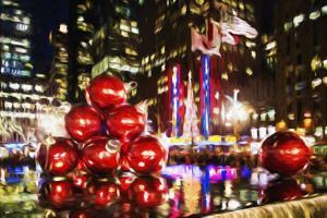 Chistmas Balls - In the Style of Oil Painting by Philippe Hugonnard
