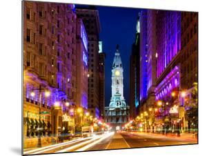 City Hall and Avenue of the Arts by Night, Philadelphia, Pennsylvania, United States by Philippe Hugonnard