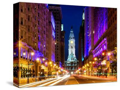 City Hall and Avenue of the Arts by Night, Philadelphia, Pennsylvania, United States