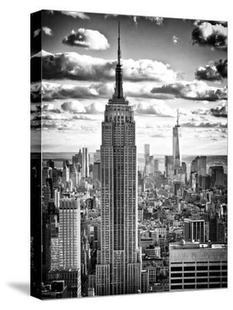 Huge New York Vintage Art  Print Canvas Photo Black White Workmen Lunch building