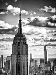 Cityscape Skyscraper, Empire State Building and One World Trade Center, Manhattan, NYC by Philippe Hugonnard