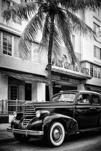 Classic Antique Car of Art Deco District - Park Central Hotel on Ocean Drive - Miami Beach by Philippe Hugonnard
