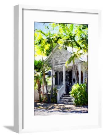 Colonial House - In the Style of Oil Painting